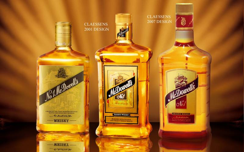 Indian Whiskey made by McDowell's.