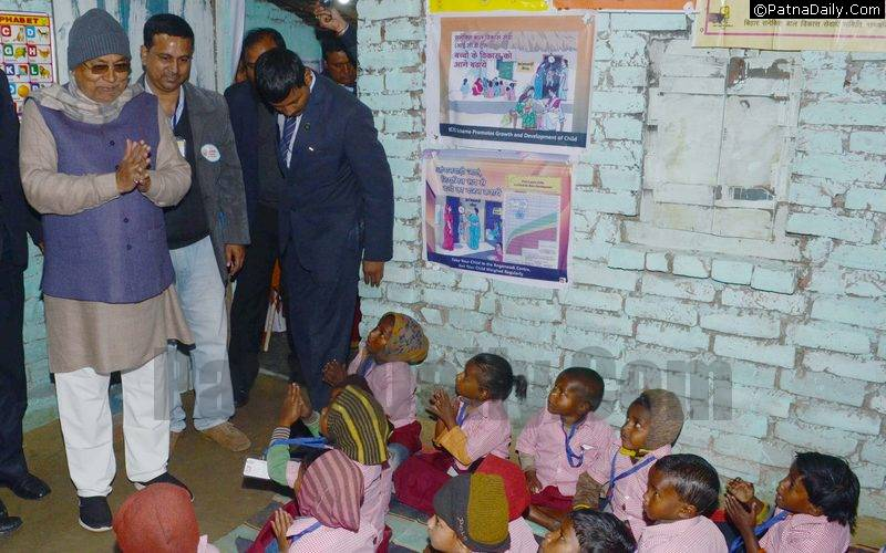 Nitish in a rural school.