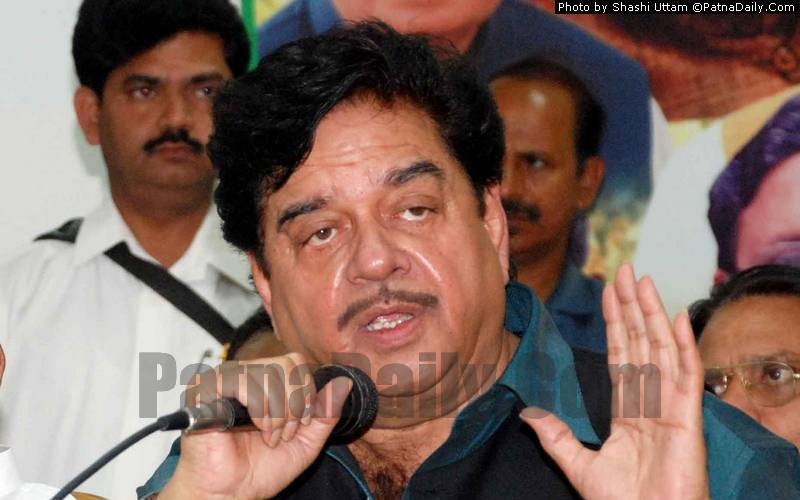 Congress leader Shatrughan Sinha