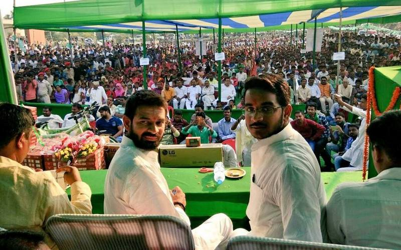 RJD leader Tej Pratap Yadav in Aurangabad on Nov. 19, 2017.