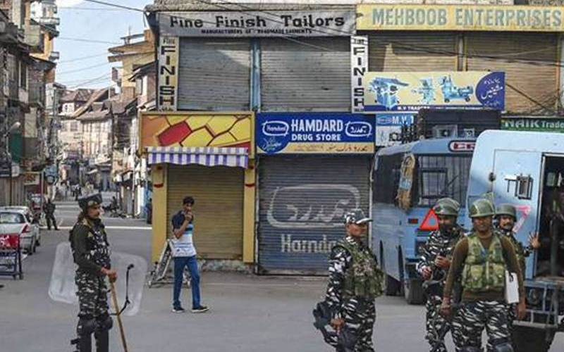 Indian army in Kashmir.