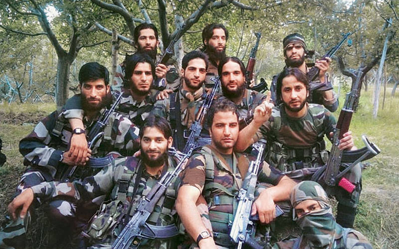 Terrorists in Kashmir (Burhan Wani at the center of the picture).
