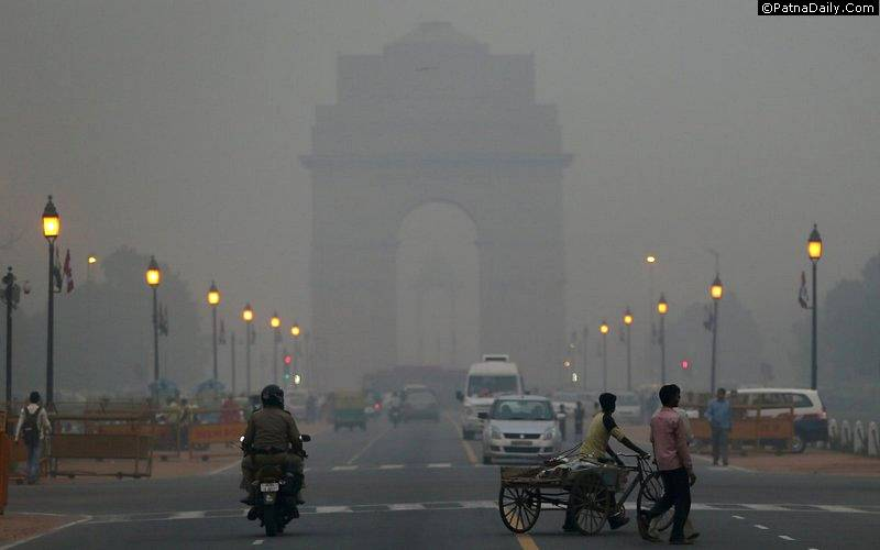 Pollution in Delhi.