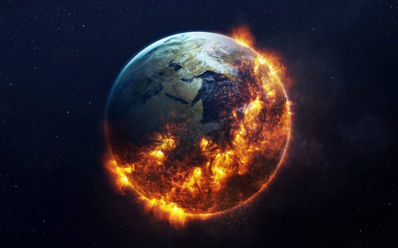 The burning earth