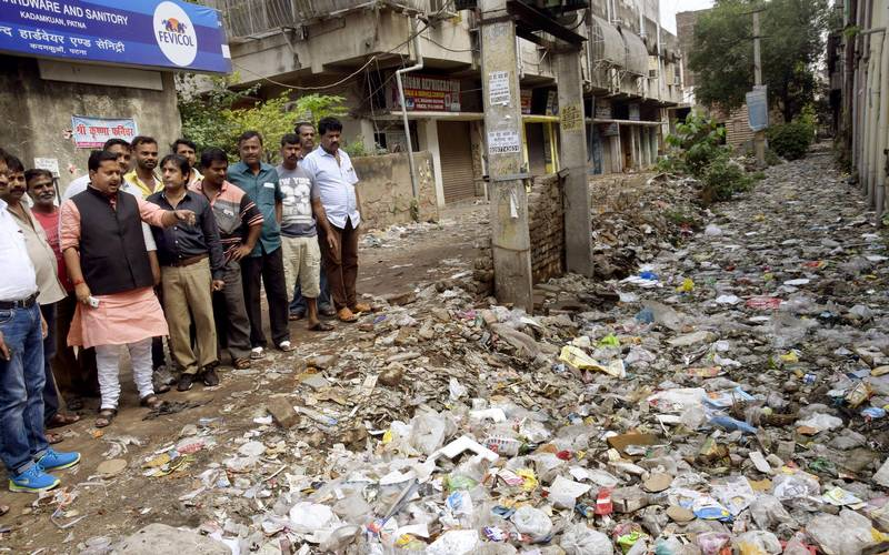 Garbage pile in Patna.