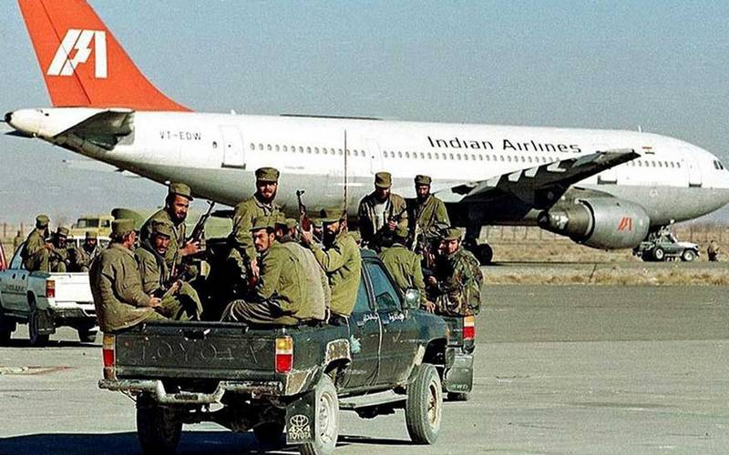 Hijack of Indian Airlines plane in 1999.