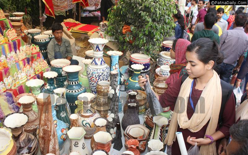 Indian and Chinese products being sold side-by-side during Diwali in Patna.