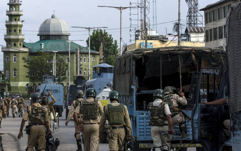 Kashmir violence perpetrated by Pakistani infiltrators.