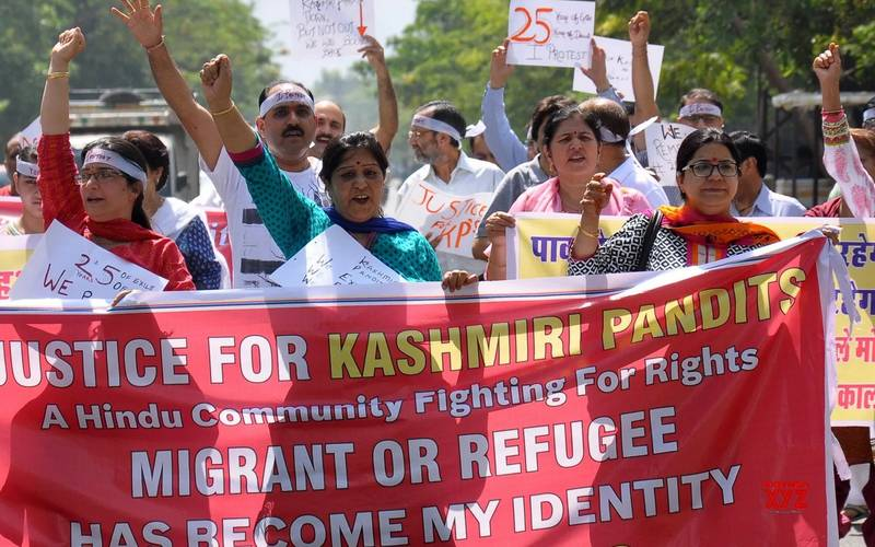 Kashmiri Brahmans demanding return of their homeland.