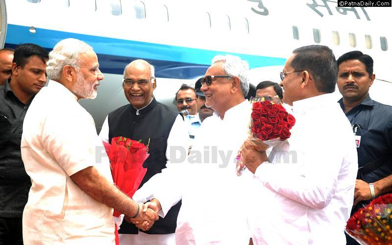 PM Narendra Modi's Maharaja One spcial aircraft arrives at Patna Airport last August.