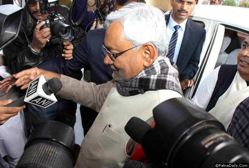 JD-U leader Nitish Kumar