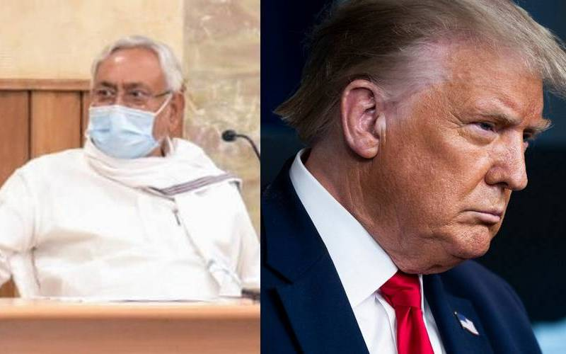 Nitish Kumar and Donald Trump.