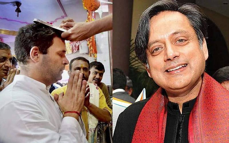 Congress leaders Rahul Gandhi and Shashi Tharoor.