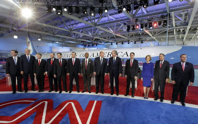 The Republican Party primary debate at the Ronald Reagan Presidential Library in Simi Valley, California on Sept. 16, 2015. Photo: CNN