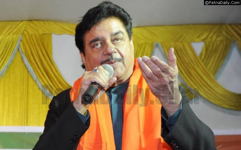 BJP MP Shatrughan Sinha.
