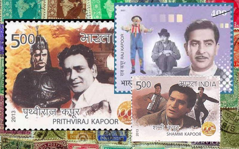 Stamps on the Kapoor family actors.