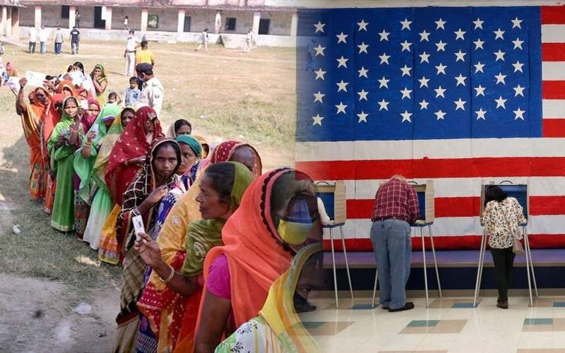 Elections in Bihar and the United States.