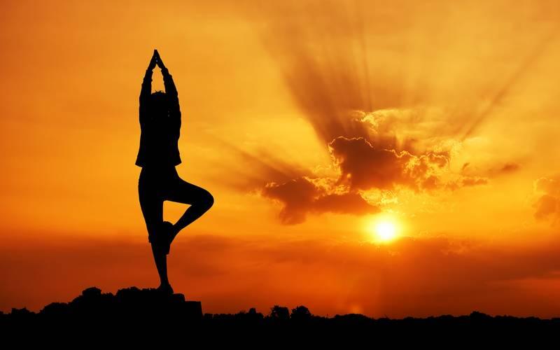 Yoga posture.
