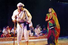 A play based on Bhikhari Thakur's story organized by Patna's Nirman Kala Manch.
