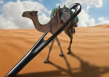 Camel through the needle!