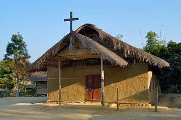 A tribal church in Nagaland