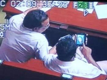 Karnataka ministers watching porn in Assembly.