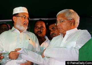 RJD president Lalu Prasad Yadav the day he said upper caste people will never become Bihar Chief Minister again.
