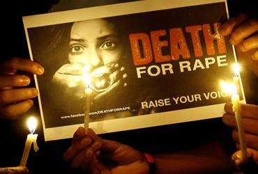 Protest against gang-rape in New Delhi.