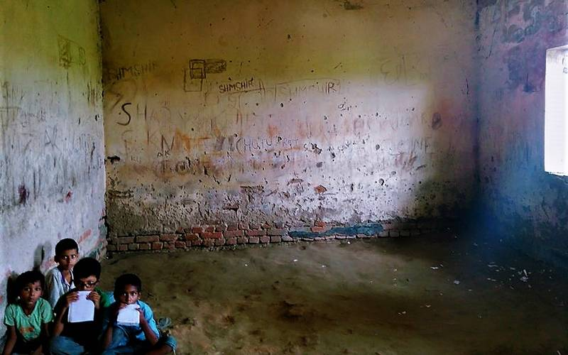 School condition in Muzaffarpur.