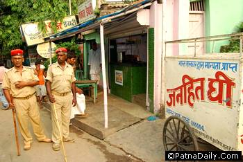 Raid at a dairy product shop in Patna.