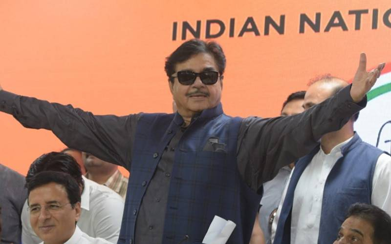 Shatrughan Sinha joins Congress Party on Saturday.