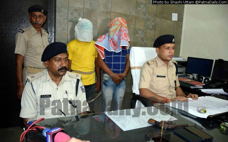 Two men arrested from Patna City on Monday.