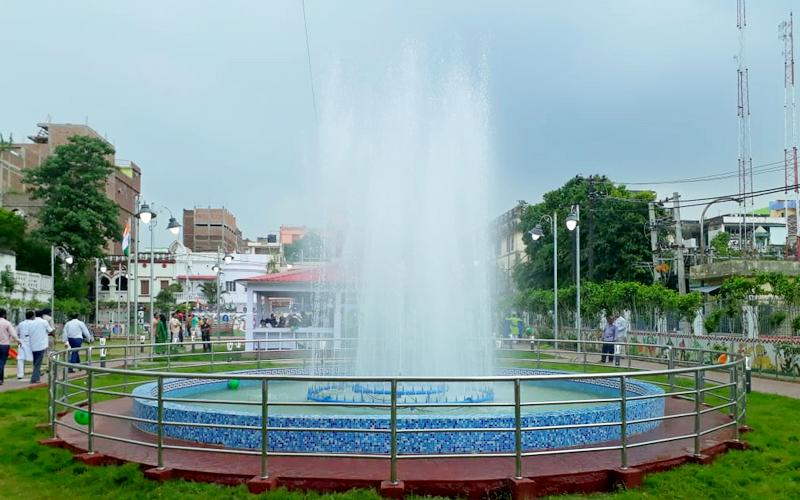 Park Road fountain in Kadam Kuan, Patna.