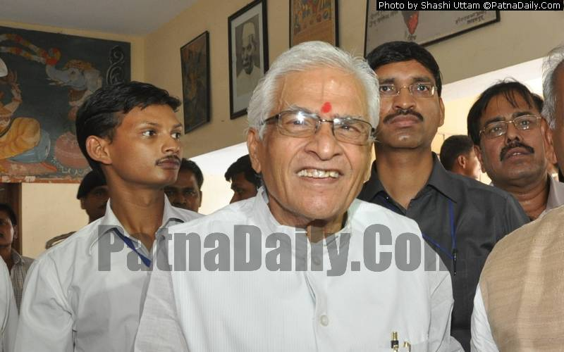 Former Bihar CM Jagannath Mishra (file photo from 2014).