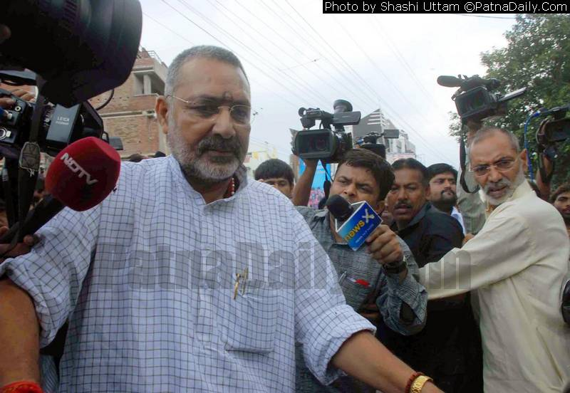 BJP MP from Begusarai Giriraj Singh (file photo).