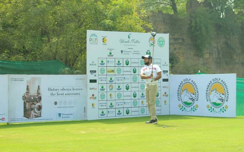 Patna golfer Aman Raj in Hyderabad.