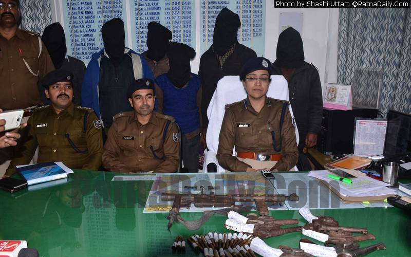Police press conference following the arrest of 12 criminals.