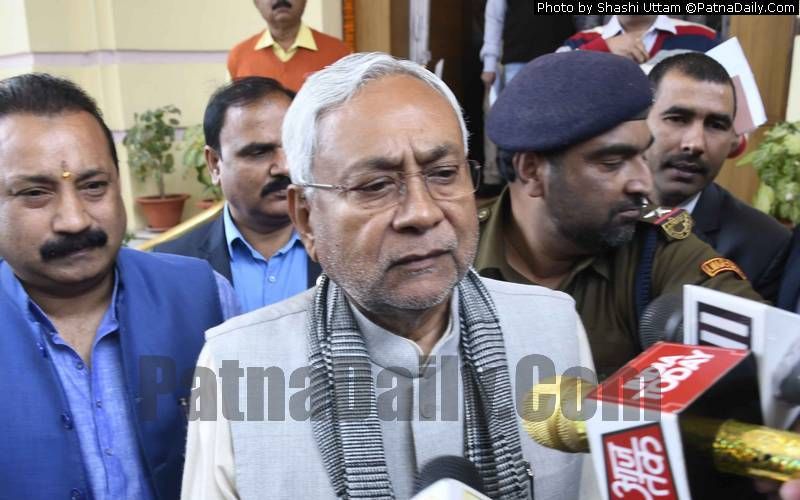 Chief Minister Nitish Kumar in Patna on Friday.