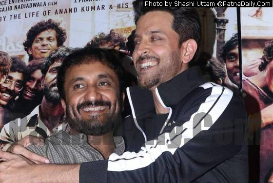 Anand Kumar with Hrithik Roshan.