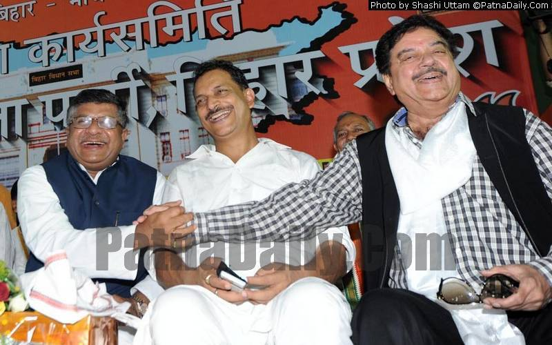 Good old days; Ravi Shankar Prasad (left), Rajiv Rudy (central), and Shatrughan Sinha (file photo).