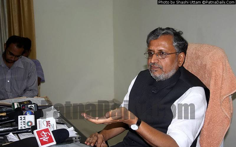 BJP leader and Deputy Chief Minister Sushil Kumar Modi (file photo).