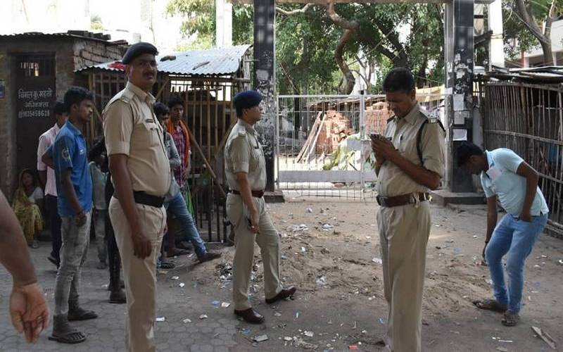 Police investigating murder of a businessman in Patna City on Sunday.