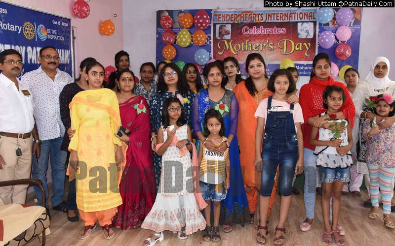 Mother's Day at Tender Heart School in Patna.
