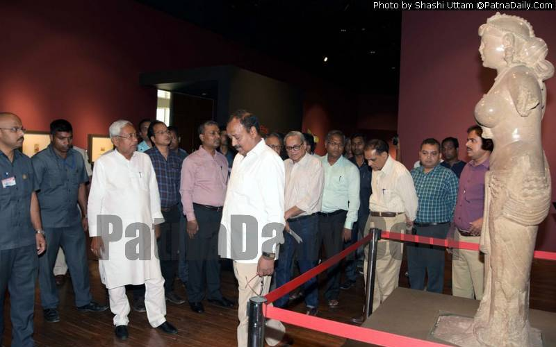 Chief Minister Nitish Kumar at Bihar Museum on Tuesday.