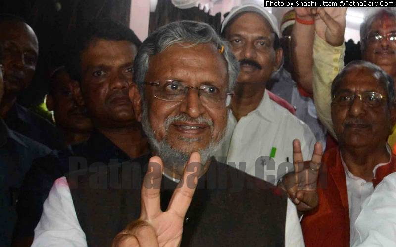 BJP leader and Deputy CM Sushil Kumar Modi (file photo).