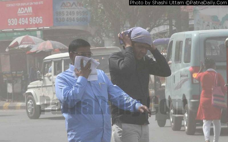 Air Quality Index (AQI) dangerously high in Patna.
