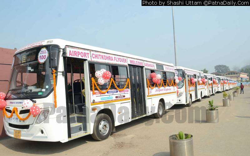 11 new buses launched from Patna Airport.