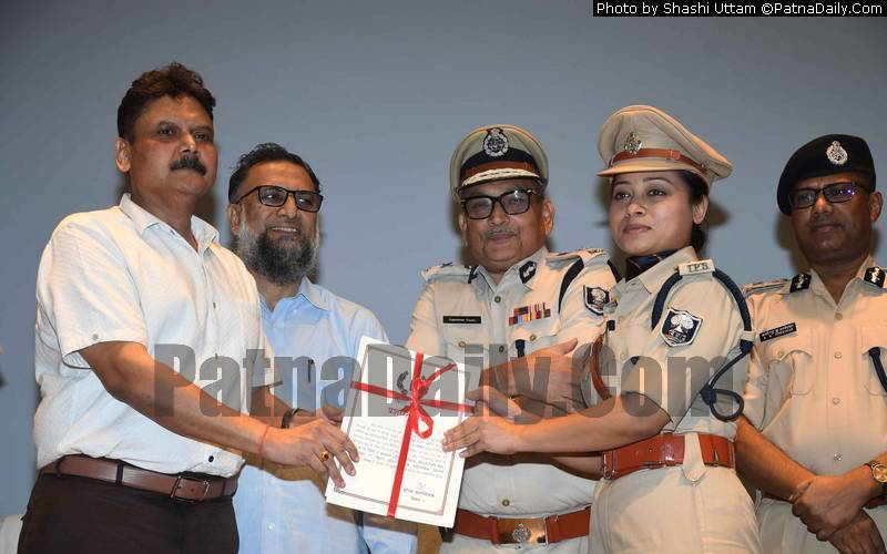 Barh ASP Lipi Singh being honored for her police work.
