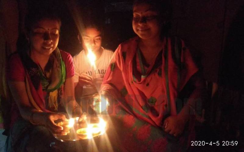 Patna'ites observing nine minutes of blackout at 9pm on Saturday as asked by PM Modi.