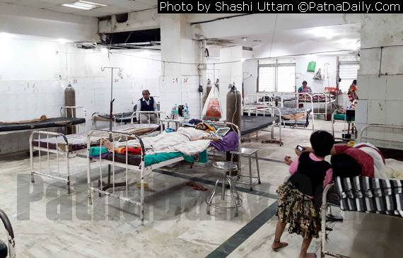 Bihar's premier hospital Patna Medical College and Hospital (PMCH) in shamble.